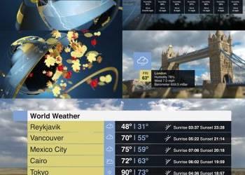 团购4期天气预报电视栏目包装整体包装动画AE模版