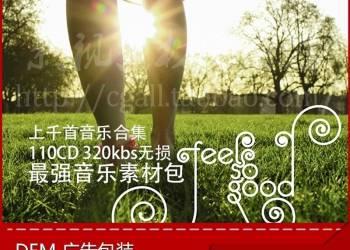 年费VIP专享 DEM广告包装 专题片配乐合集110CD(MP3+WAV)