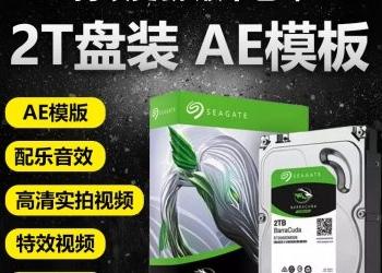 AE模版2T硬盘拷贝影视高清实拍视频素材库 配乐音效素材国外样片