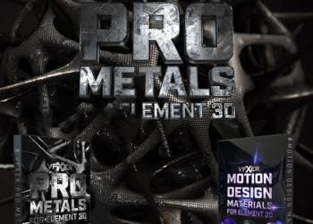 年费VIP专享210组特效片头钢铁创意Element 3D/E3D材质预设 Win/Mac