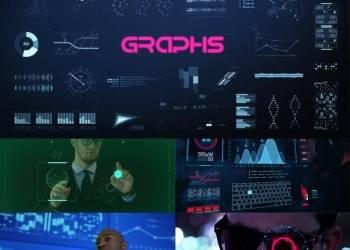 VIP专享AE模板-400+未来科幻HUD高科技界面UI动画 + 渲染好的视频素材