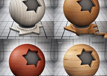年费VIP100个C4D木材纹理材质预设 纹理可无缝拼贴
