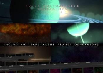 VIP专享FCPX插件:40个终极史诗银河星系宇宙星云地球空间环境插件ProDrop Space