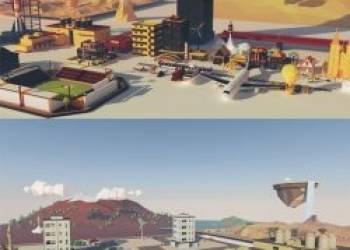 年费VIP专享C4D/E3D模型-低多边形汽车/楼房/飞机/建筑/城市生活场景预设