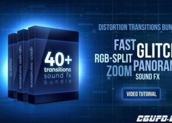 年费VIP专享40组信号干扰转场过渡特效PR模版,40+ BUNDLE GLITCH AND RGB-SPLIT TRANSITIONS, SOUND FX 63249 – PREMIERE PRO TEMPLATES