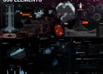 年费VIP专享AE模板+脚本-高科技军事信息化动态元素包 Quantum HUD Infographic V2(更新)