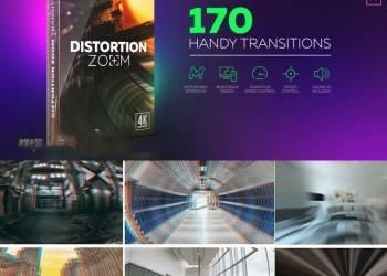 年费VIP专享AE模板+脚本:170组弹性扭曲冲击图片视频无缝转场预设