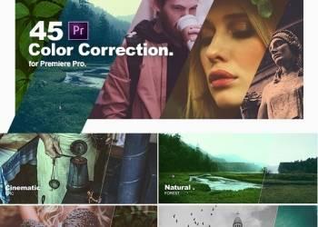 年费VIP专享Premiere预设:45组电影个性化自然黑白复古视频调色预设