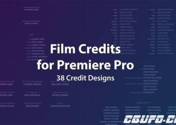 年费VIP专享电影电视剧职员表动画AE模版PR模版,Film Credits Kit