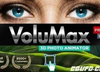 年费VIP专享AE模板-风景人像照片转3D效果摄像机推拉旋转景深动画 VoluMax Pro (更新到V5.2)