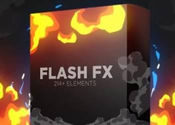 年费VIP专享AE模板-214组卡通动漫火焰烟雾电流能量闪光MG动画+渲染好的带通道视频素材