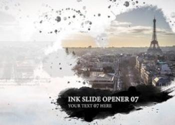 11726AE模板-水墨晕染散开照片开场片头+背景音乐,Ink Slide – Opener