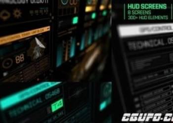年费VIP专享AE模板-科技感HUD屏幕信息动画元素