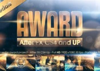 年费VIP专享11933大气金色颁奖典礼年会颁奖晚会视频全套视频包装AE模版,Golden Award