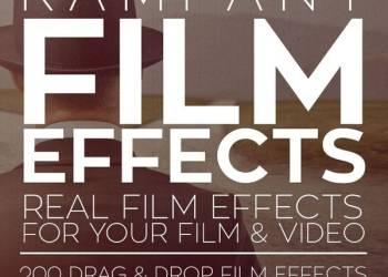 年费VIP专享200组电影胶片划痕噪点光效4K视频素材