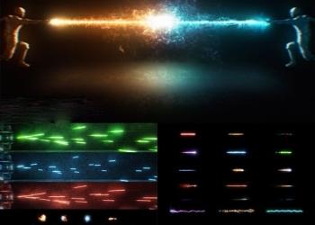 年费VIP专享115组科幻冲击能量波魔法武器开枪火焰光线特效合成4K视频素材