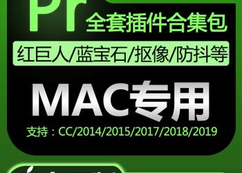 VIP专享PR插件合集mac苹果转场字幕磨皮降噪调色抠像节点鱼眼CC20145789