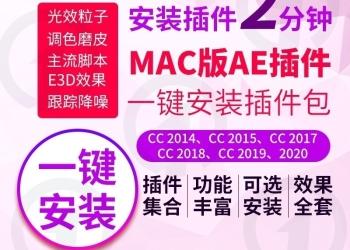 Ae插件Mac全套合集中文粒子e3d素材Particular降噪变速一键安装