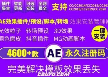 永久更新版本AE插件全套中文合集包调色脚本ae插件一键安装支持CC2018 2019 2020