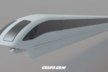 磁悬浮列车C4D模型 transrapid 3d model