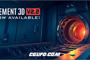 AE插件-E3D v2.2.2三维模型插件Video Copilot Element 3D 2.2.2 Build 2155 for After Effects Win/Mac版