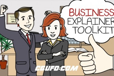 8163MG卡通角色解说动画AE模版,Business Explainer Toolkit