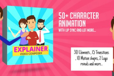 8439卡通人物角色MG动画AE模版,Character Animation Composer – Explainer Video Toolkit