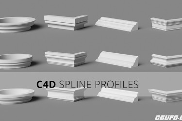 182个C4D角线预设 cinema 4d Spline Profiles 1.4