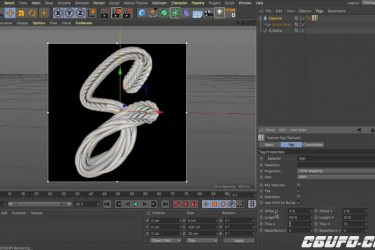 C4D鞋带建模渲染教程 Cinema 4D – How to Create a Shoelace Displacement Map Tutorial