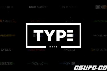 8794-22种文字特效动画AE模版,TypeHype – Titles Animation Motion Typography Text