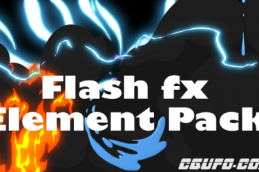8855AE模板-能量水流火焰MG动画手绘元素 Flash Fx Element Pack + 带通道视频素材,Flash Fx Element Pack