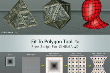 C4D对称多边形工具 Fit To Polygon Tool – Free Script For CINEMA 4D