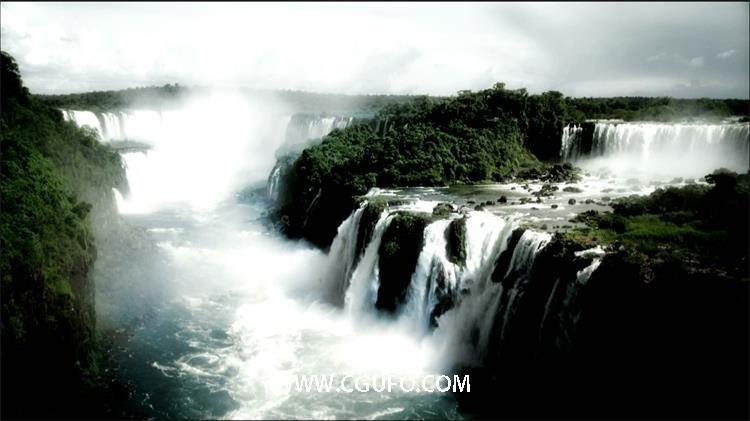 272大瀑布高清实拍视频素材