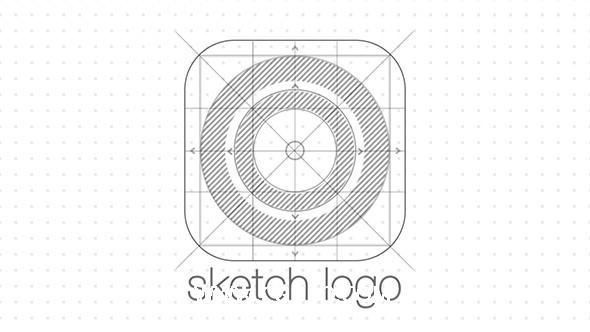 4904素描logo演绎动画AE模版,Sketch Logo Reveal