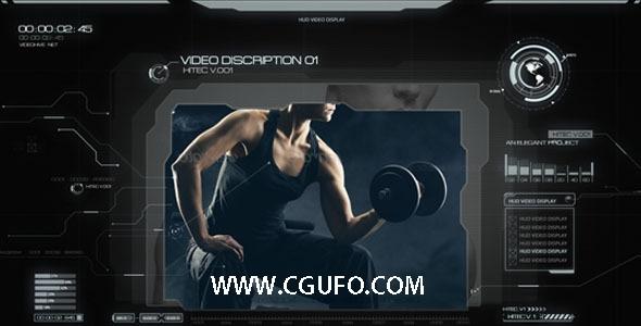 5094HUD高科技图片展示包装动画AE模版,SPY HiTech