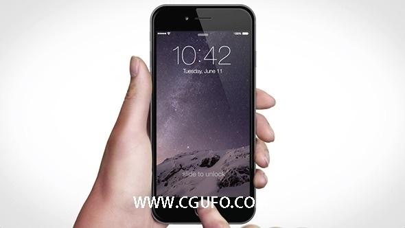 5204-苹果6S APP包装动画AE模版,Phone 6s App Video Kit