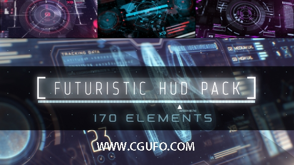 5250HUD高科技信息图表动画AE模版,HUD Infographic