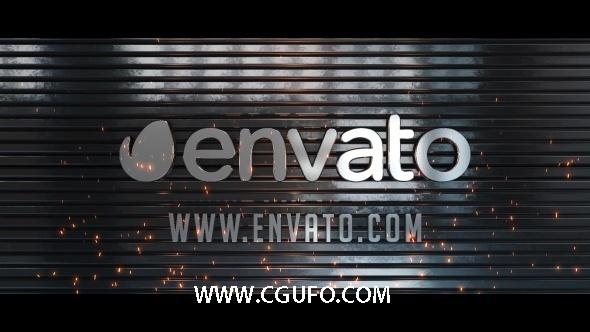 5381史诗级大气E3D金属logo演绎动画AE模版,Epic 3D Metal Logo