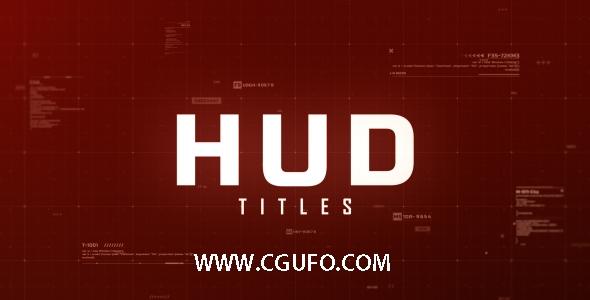 5498高科技HUD特效动画AE模版,Hud Titles