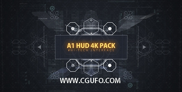 4291HUD数字科幻平视特效动画AE模板,A1 HUD 4K PACK