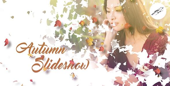 5532秋季落叶特效视频包装转场动画AE模版,Autumn Slideshow 1