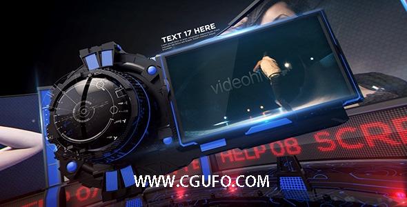 5595大气震撼电视栏目包装动画AE模版,Velocity 3D Display