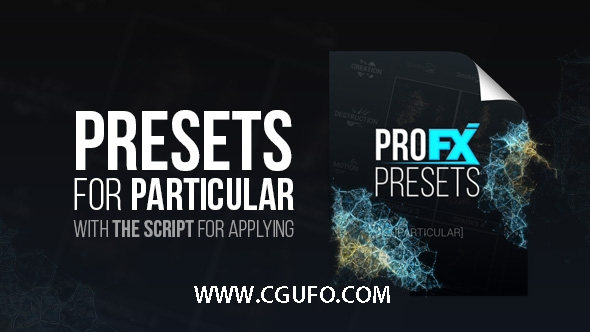 5603particular粒子AE预设动画,Pro FX Presets [Particular]