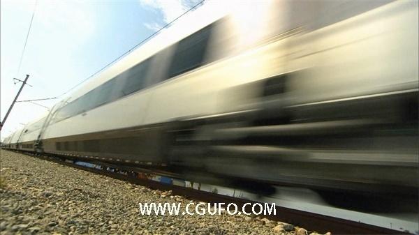 1060火车高铁穿行高清实拍视频素材