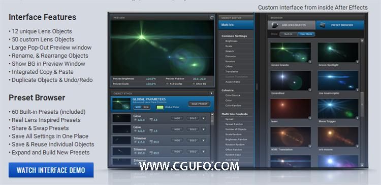 AE光晕插件Optical Flares 1.3.5安装版 附预设 Win/Mac注册机