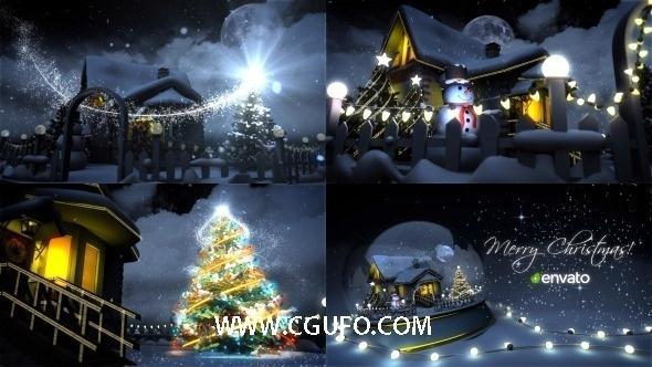 5723圣诞节卡通动画AE模版,Christmas