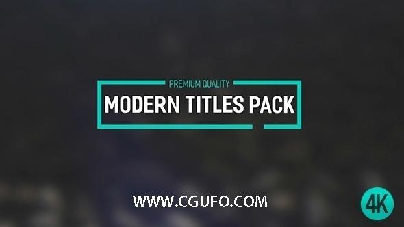 5730现代字幕条包装动画AE模版,Modern Titles Pack II