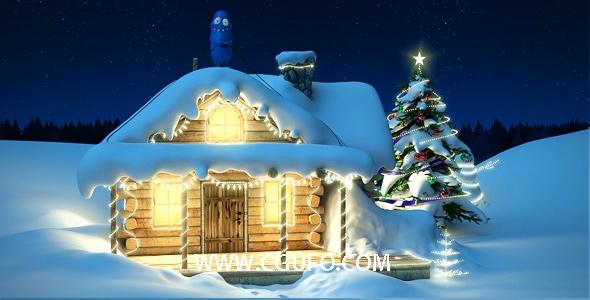 5756圣诞节新年卡通动画AE模版,Christmas and New Year with Bobby