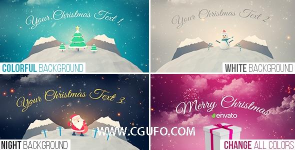 5777圣诞节卡通片头动画AE模版,Christmas