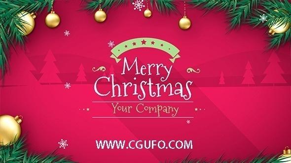5796圣诞节卡通动画AE模版,Christmas